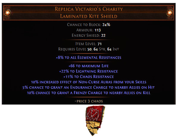 Replica Victario's Charity
