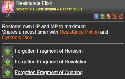 Resistance Elixir FFXIV