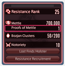 Resistance Honors System FFXIV