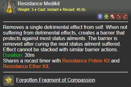 Resistance Medikit FFXIV