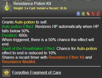 Resistance Potion Kit FFXIV