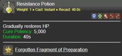 Resistance Potion FFXIV