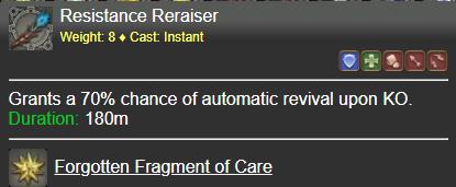Resistance Reraiser FFXIV