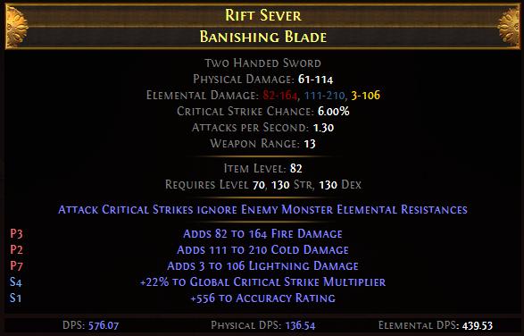 Rift Sever Banishing Blade