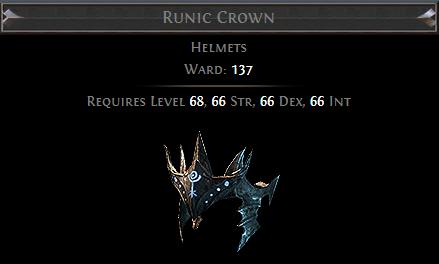 Runic Crown PoE