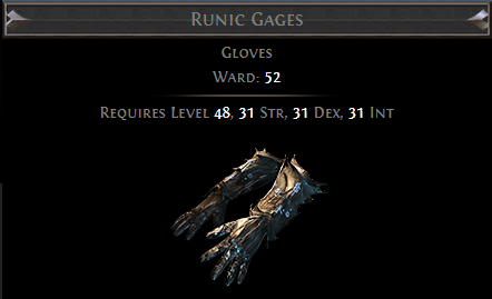 Runic Gages PoE