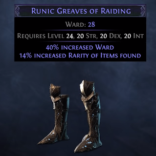 Runic Greaves PoE