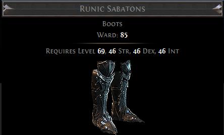Runic Sabatons PoE