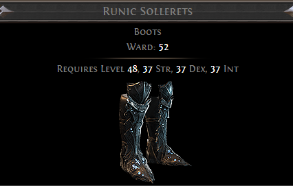 Runic Sollerets PoE
