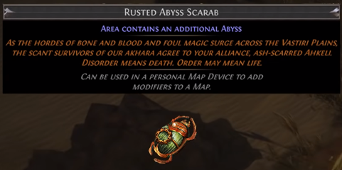 Rusted Abyss Scarab PoE