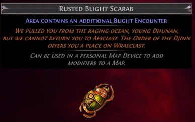 Rusted Blight Scarab PoE