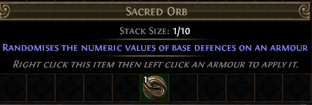 Sacred Orb PoE