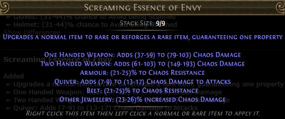 Screaming Essence of Envy