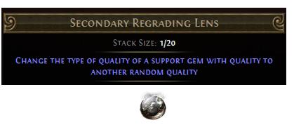 Secondary Regrading Lens