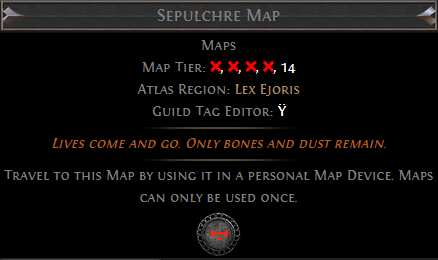 Sepulchre Map PoE