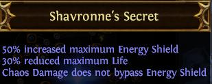 Shavronne's Secret PoE