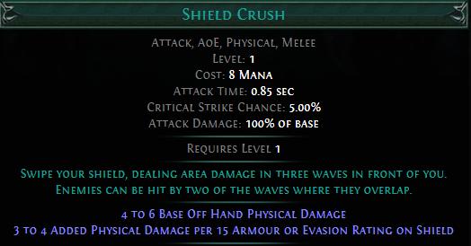 Shield Crush PoE