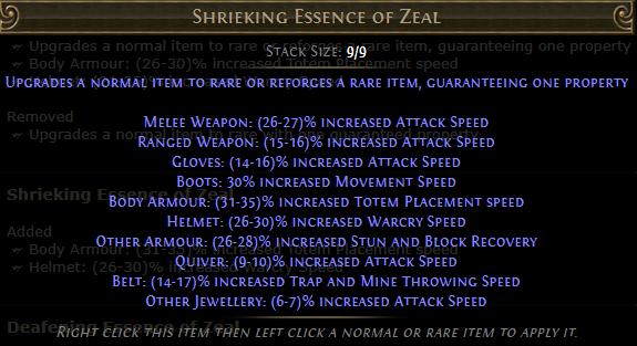 Shrieking Essence of Zeal