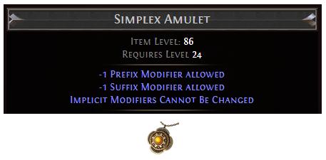 Simplex Amulet
