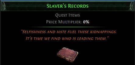 Slaver's Records