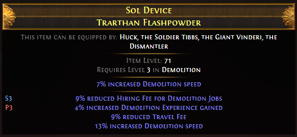 Sol Device Trarthan Flashpowder