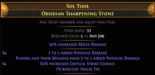 Sol Tool Obsidian Sharpening Stone