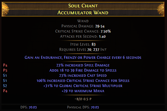 Soul Chant Accumulator Wand