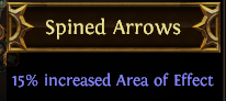 Spined Arrows PoE