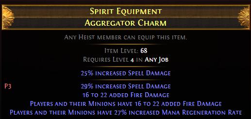 Spirit Equipment Aggregator Charm