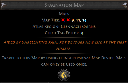 Stagnation Map PoE