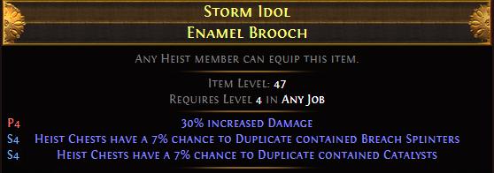 Storm Idol Enamel Brooch