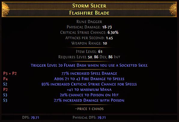 Storm Slicer Flashfire Blade