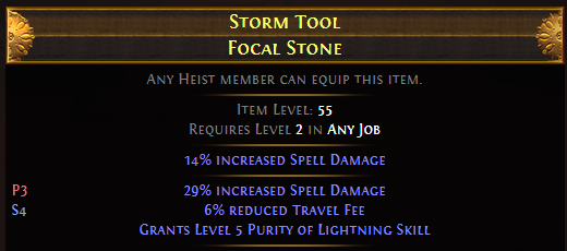 Storm Tool Focal Stone