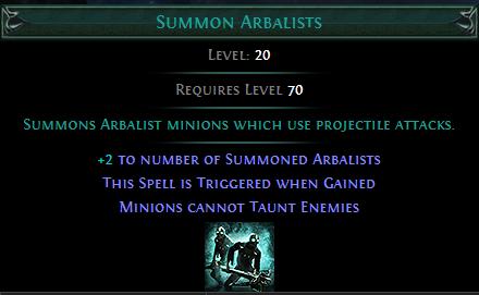 Summon Arbalists PoE