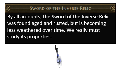 Sword of the Inverse Relic