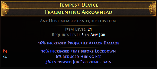 Tempest Device Fragmenting Arrowhead