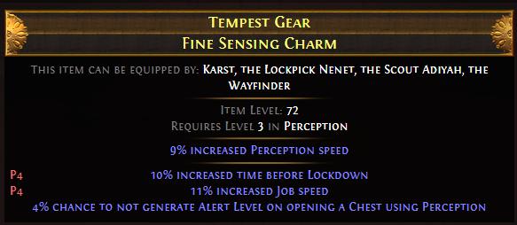 Tempest Gear Fine Sensing Charm