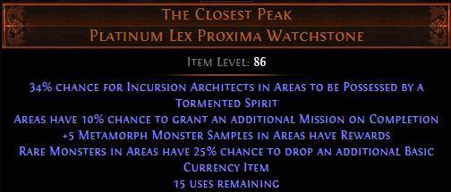 PoE The Closest Peak