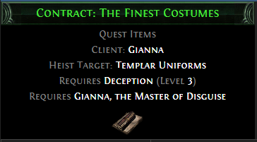 Contract: The Finest Costumes