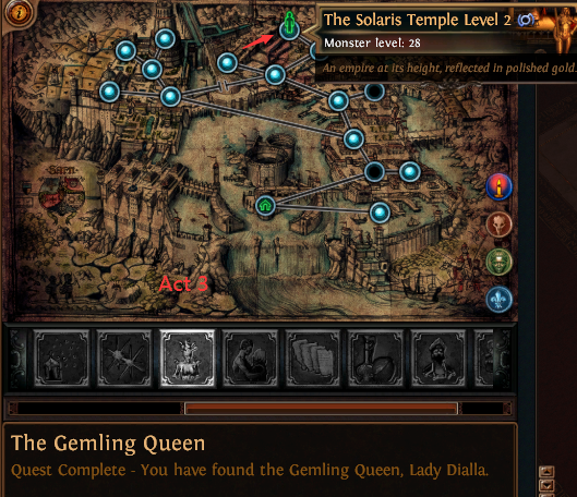 The Gemling Queen location