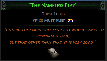 The Nameless Play