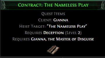 Contract: The Nameless Play