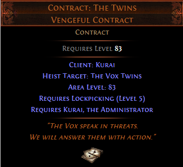 Contract: The Twins