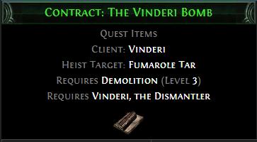 Contract: The Vinderi Bomb