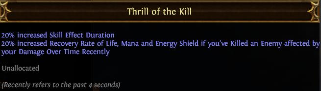 Thrill of the Kill PoE