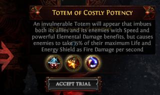 Totem of Costly Potency