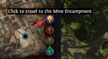 Travel to Mine Encampmen