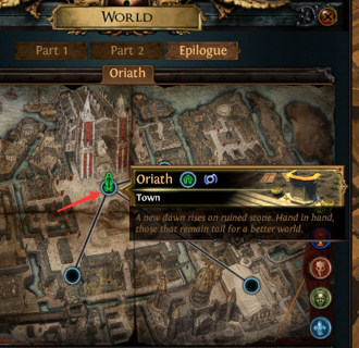 Travel to Oriath