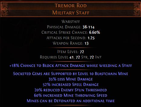 Tremor Rod