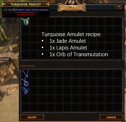 Turquoise Amulet Recipe